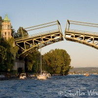 Shutter Wonders Photography Greeting Card - Seattle's Montlake Bridge connects Montlake with the University District.