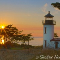 Shutter Wonders Photography Greeting Card - Admiralty Head Lighthouse at sunset