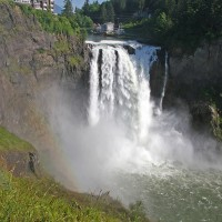 Shutter Wonders Photography Greeting Card - Snoqualmie Falls, near Seattle