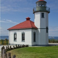 Shutter Wonders Photography Greeting Card - Alki Point Lighthouse near Alki Beach in West Seattle.
